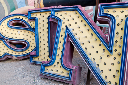 Before the renovation starting in 2010, the Neon Boneyard had fun with some of the sign letters. Unfortunately, they have taken a lot of the fun out of the experience with their reopening.