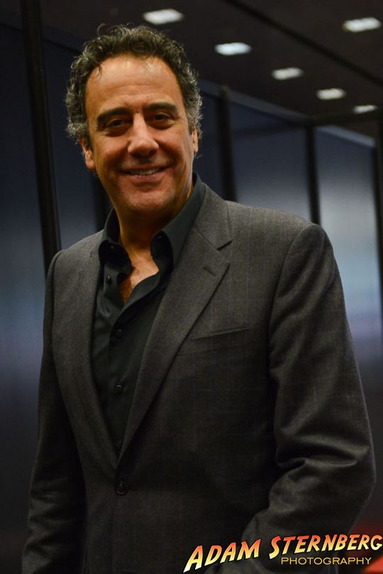 Actor and comedian Brad Garrett backstage before mingling with guests at a VIP reception.
