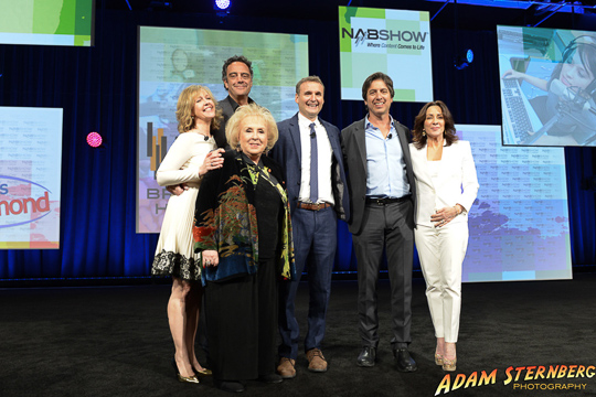 The entire cast of the show Everybody Loves Raymond, who were inducted into the NAB Hall of Fame. From left to right: Monica Horan, Doris Roberts, Brad Garrett, show creator Philip Rosenthal, Ray Romano, and Patricia Heaton. I had the wonderful opportunity to spend half of a day photographing this very pleasant group of entertainers and there is no doubt they are very deserving of their award.
