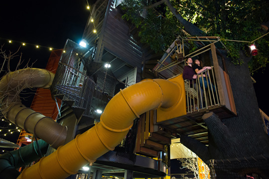 Another one of my favorite photos. The playground area inside the Downtown Container Park is a huge hit with children AND adults who are encouraged to be a kid again inside.