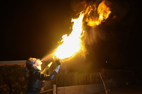 Fire breathing test photo. The neighbors all thought we were crazy.
