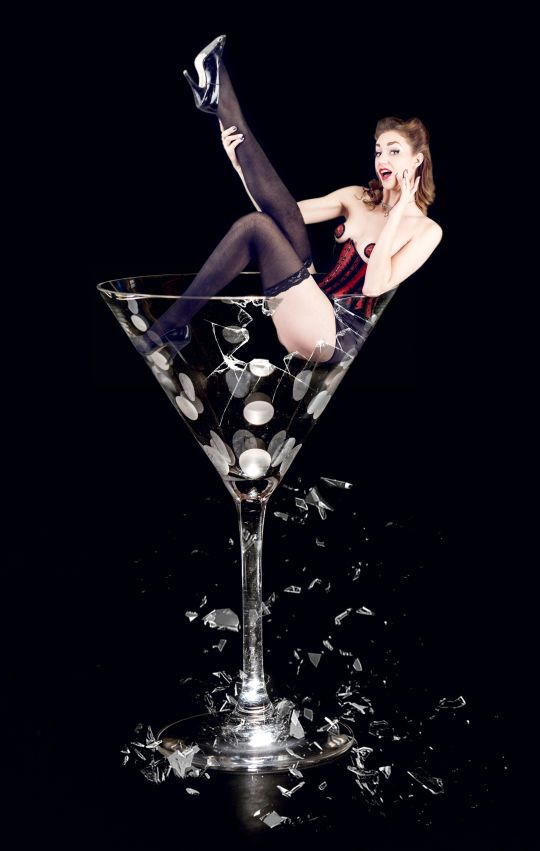 Broken Martini. One of my all-time favorite pinup projects I've ever shot for.