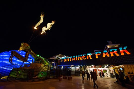 The Mantis: A menacing robot that shoots fire from it's antennae and is a huge hit with visitors!