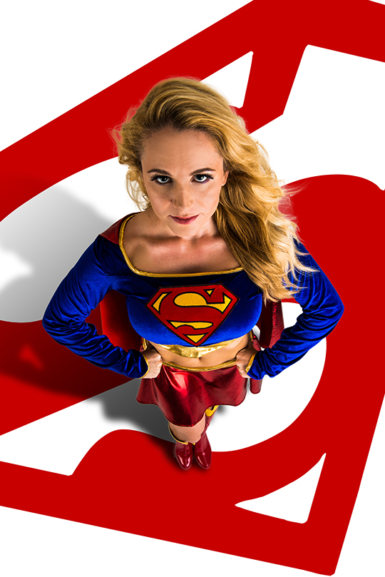 Las Vegas model Leah Gruber becomes the Girl of Steel!