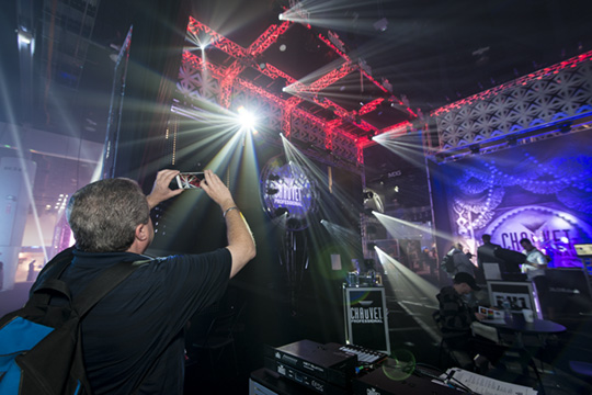 Taking photos at the LDI 2015 convention in Las Vegas