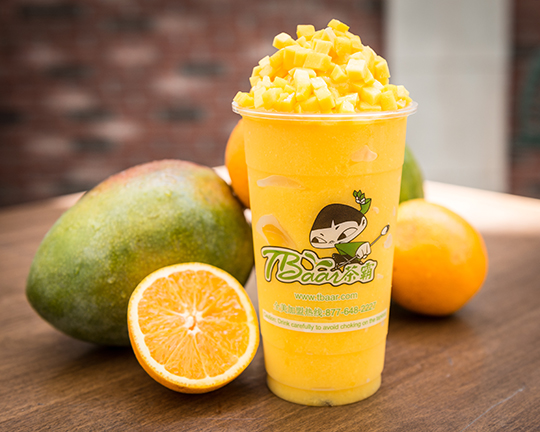 Mango Orange Smoothie at Tbaar.