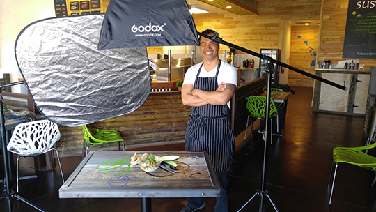 Behind the scene with the chef at Soulfish Poke. As this was a contracted shoot from the restaurant, I was able to spend a bit more time in the staging and lighting for these items.